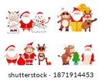 merry christmas and happy new... | Shutterstock .eps vector #1871914453