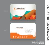 modern abstract business cards... | Shutterstock .eps vector #187192784