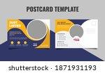 real estate postcard design...   Shutterstock .eps vector #1871931193