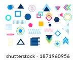 shape element abstract. vector... | Shutterstock .eps vector #1871960956