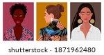 set of portraits of women of... | Shutterstock .eps vector #1871962480