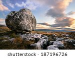 Erratic Boulder On Limestone ...