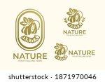 natural woman logo wearing hat | Shutterstock .eps vector #1871970046