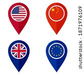 map pointer icon set. united... | Shutterstock .eps vector #1871976109
