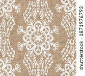 seamless burlap with white... | Shutterstock . vector #1871976793