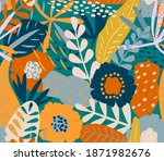 vector seamless pattern  nature ... | Shutterstock .eps vector #1871982676