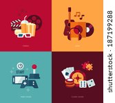 set of vector flat design... | Shutterstock .eps vector #187199288