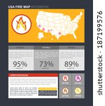usa fire map infographic....