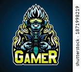 gamer cyberpunk style  mascot... | Shutterstock .eps vector #1871998219