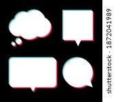 set of white speech bubbles... | Shutterstock .eps vector #1872041989