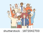 unity in multicultural... | Shutterstock .eps vector #1872042703