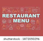 restaurant menu word concepts...