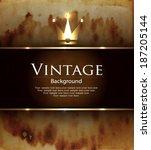 vintage background | Shutterstock .eps vector #187205144