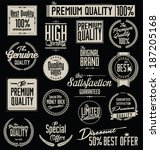 collection of premium quality... | Shutterstock .eps vector #187205168