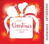 merry christmas vector... | Shutterstock .eps vector #1872053503