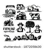 farming theme. elements for...   Shutterstock .eps vector #1872058630