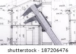 architect project drawing... | Shutterstock . vector #187206476