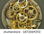 old clock mechanism  inside of...   Shutterstock . vector #1872069253