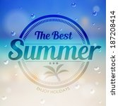 the best summer label with... | Shutterstock .eps vector #187208414