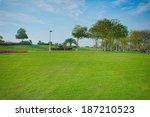 a beautiful public park in dubai   Shutterstock . vector #187210523