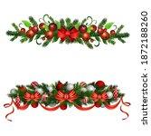 christmas holly brunches...   Shutterstock .eps vector #1872188260