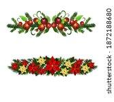 christmas holly brunches...   Shutterstock .eps vector #1872188680