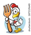 chicken | Shutterstock .eps vector #187219640