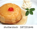 upside down cake  sweet fresh... | Shutterstock . vector #187231646
