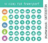 vector basic icon for transport ... | Shutterstock .eps vector #187233734