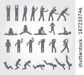 Body Exercise Stick Figure Ico...
