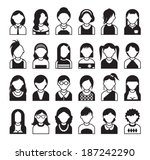 twenty four set of  style women ... | Shutterstock .eps vector #187242290