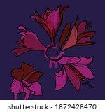 elegant hippeastrum flower....   Shutterstock . vector #1872428470