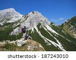Hikers With Backpacks Enjoying...