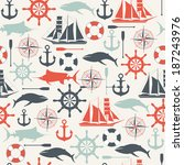 seamless pattern from sea...   Shutterstock .eps vector #187243976