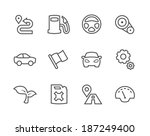 simple set of auto related... | Shutterstock .eps vector #187249400
