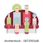 family sitting on the sofa  man ...   Shutterstock .eps vector #187250168