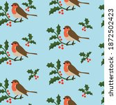 christmas seamless pattern with ... | Shutterstock .eps vector #1872502423