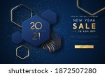 new year 2021 sale discount web ... | Shutterstock .eps vector #1872507280