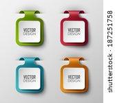 vector banners set  | Shutterstock .eps vector #187251758