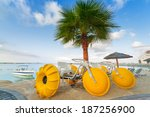 Yellow Paddle Boats On The...