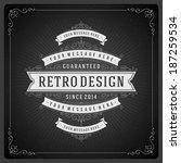 retro chalkboard typographic... | Shutterstock .eps vector #187259534