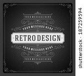 retro chalkboard typographic... | Shutterstock .eps vector #187259594
