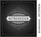 retro chalkboard typographic... | Shutterstock .eps vector #187259636