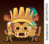 Aztec Totem Warriors With...