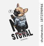 no signal slogan with cartoon... | Shutterstock .eps vector #1872598966