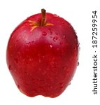 red delicious apple isolated on ... | Shutterstock . vector #187259954