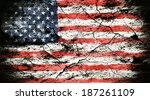 grunge flag of usa | Shutterstock . vector #187261109