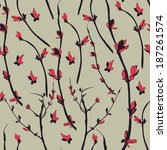 floral seamless background | Shutterstock .eps vector #187261574