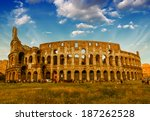 rome. view of colosseum on a... | Shutterstock . vector #187262528