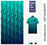 fabric pattern design.... | Shutterstock .eps vector #1872628459
